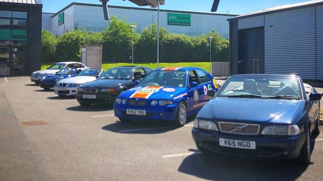 Fundraising stars in low-priced cars