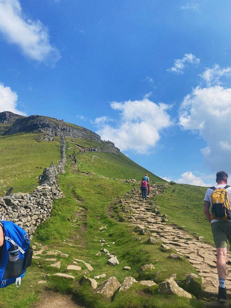 Emma's Yorkshire Three Peaks Challenge after meningitis