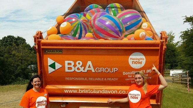 Meningitis Now corporate partner Bristol & Avon Balloon