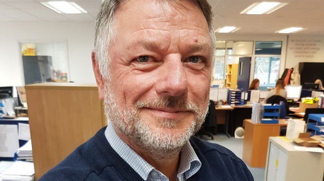 Meningitis Now staff member Mark Hunt