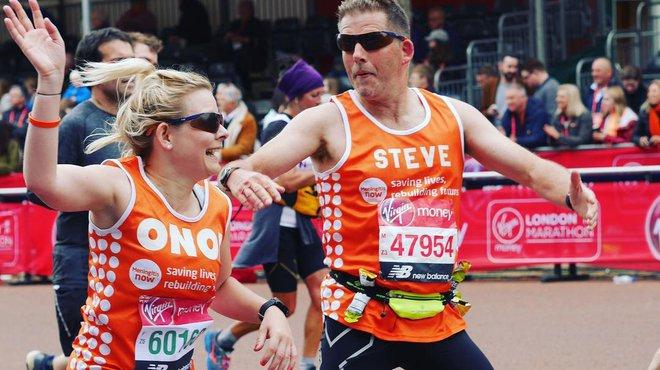 Well done London Marathon Team Tangerine 2019 - Onor
