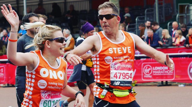 Well done London Marathon Meningitis Now Team Tangerine 2019 - Onor