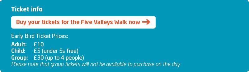 FVW Five Valleys Walk 2019 Ticket Info