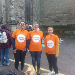Emma Smart fundraising abseil for Meningitis Now