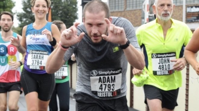 Adam joins Meningitis Now for Great North Run