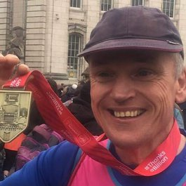 London Marathon runner Adrian fundraising for Meningitis Now