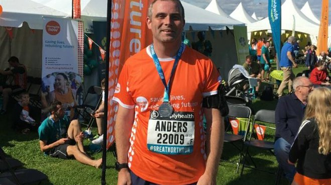 Anders to take on Great North Run for Meningitis Now for 20th time