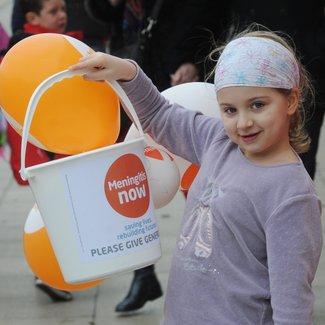 Meningitis Now fundraising - Bucket collection pyjama day