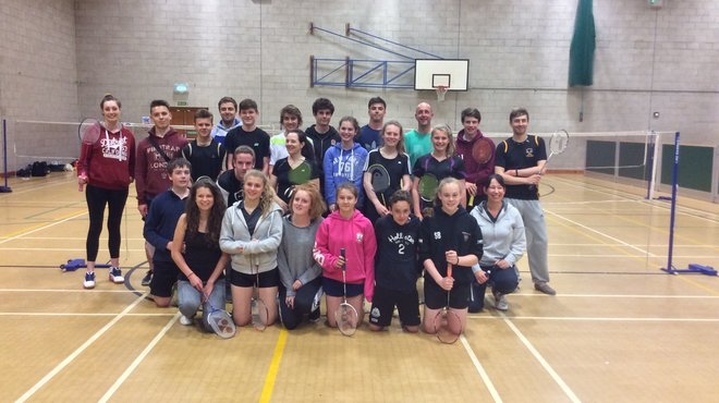 Badminton fundraiser