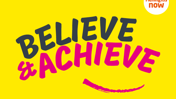 Meningitis Now Believe & Achieve B&A - Link box - Emblem
