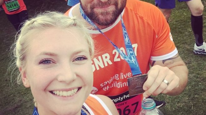 Becky's Great North Run fundraiser for Meningitis Now