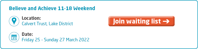 Meningitis Now support event - Believe and Achieve 11-18 Weekend March 2022 Key Info - waiting list.png