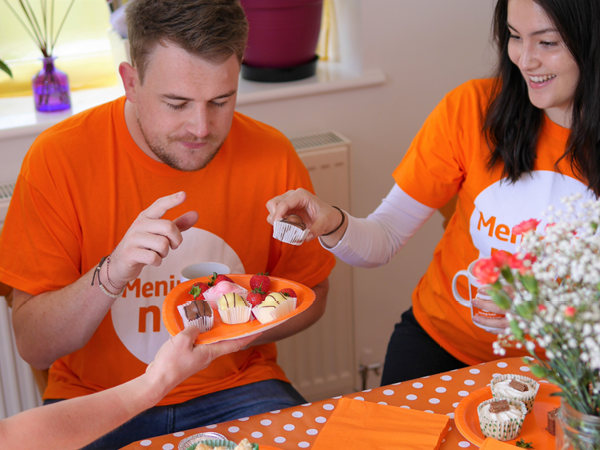 Meningitis Now fundraising event Brew&Bake link box