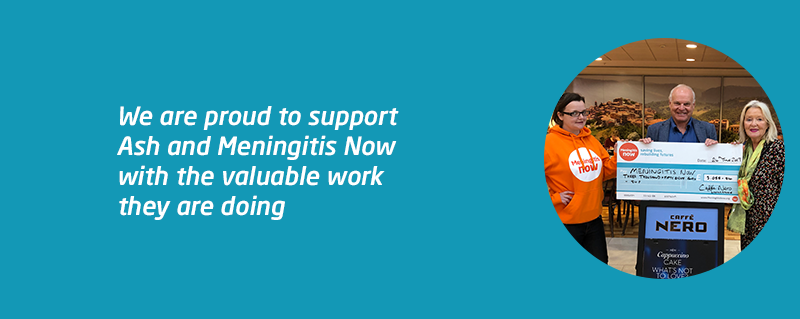 Ashley and Caffe Nero fundraise for Meningitis Now