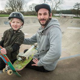 Meningitis survivor Caspar skateboarding blog