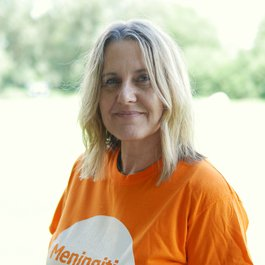 Meningitis Now staff member Cathy Friend