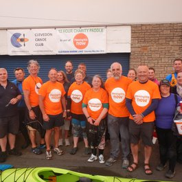 Clevedon Canoe Club fundraising for Meningitis Now