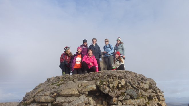 Meningitis Now staff member Tasha does Three Peaks Challenge
