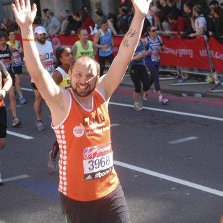 Meningitis Now fundraising event - London Marathon runner