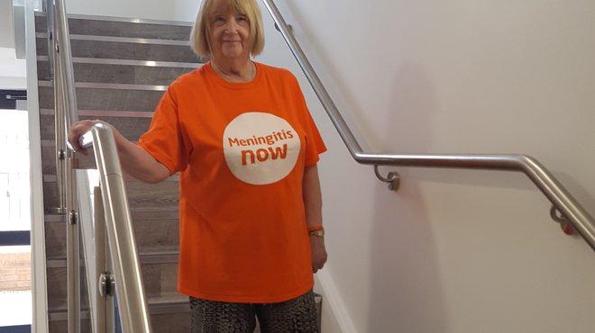 Diane Kelly tells meningitis to Jog On