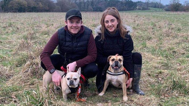 Charlotte and Jake WAG for Meningitis Now