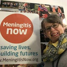 Meningitis Now staff member Elaine Close