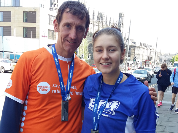 Edinburgh Marathon Festival for Meningitis Now link box