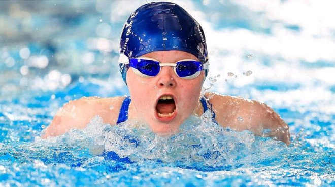 Ellie Challis swimming in World Para Championships