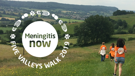 Sign up for Meningitis Now's 2019 Five Valleys Walk