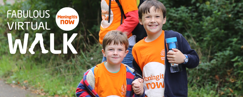 Meningitis Now fundraising event - Fabulous Virtual Walk 2020 Header - Thank You