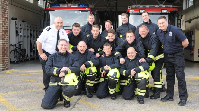 Meningitis Now Five Valleys Walk FVW firefighters