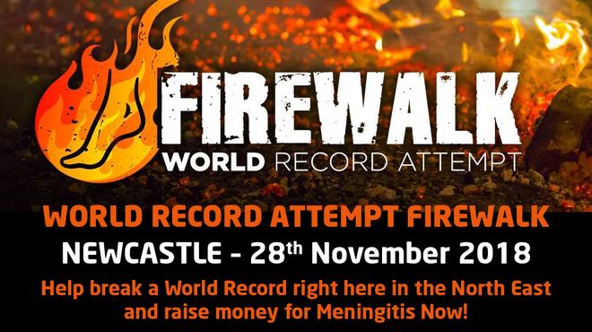 Charity Firewalk event for meningitis