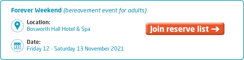 Meningitis Now support event - Forever Weekend 2021 Key Info - fully booked