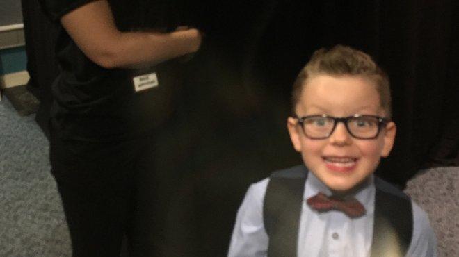 Mason backstage