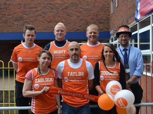 Supporters fundraising for Meningitis Now