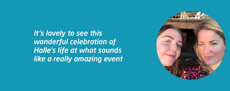 Fundraising celebration of Halle after meningitis death