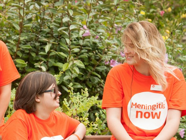 Meningitis Now volunteers - fundraising in education