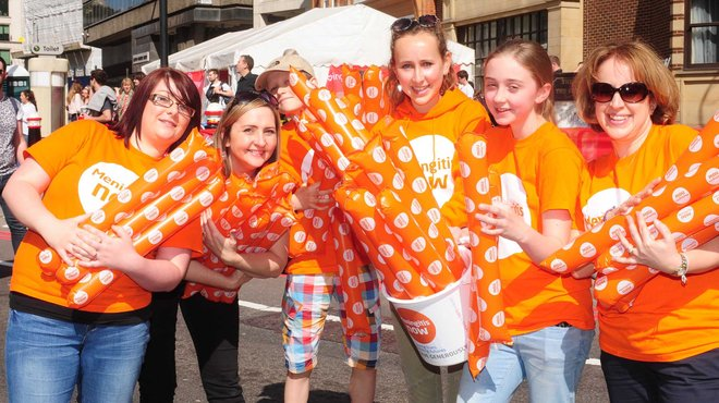 Meningitis Now event - Great North Run volunteers