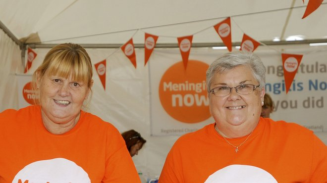 Meningitis Now volunteers at Great North Run
