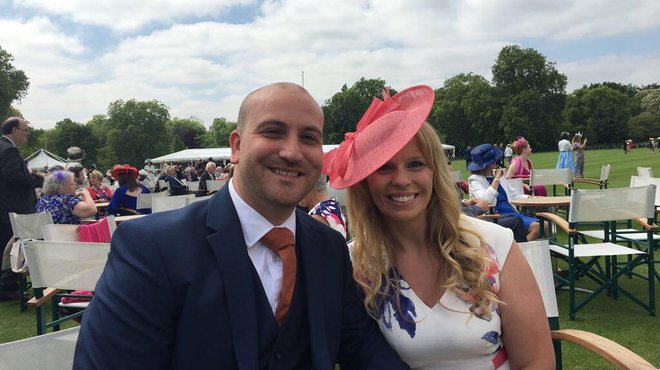 Meningitis Now supporters attend Royal garden party