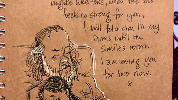 Gary Andrews doodle diary after wife dies from septicaemia