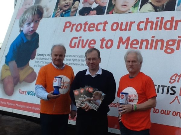 Meningitis Now awareness trailer in Gretna