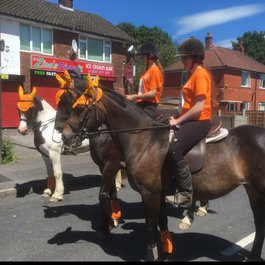 Horse ride fundraiser for Meningitis Now