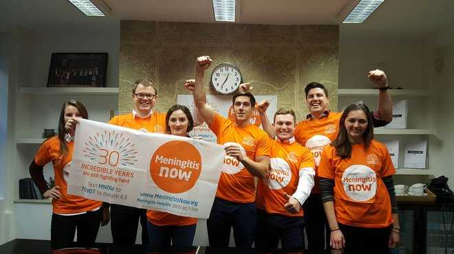 Cycling challenge for Meningitis Now