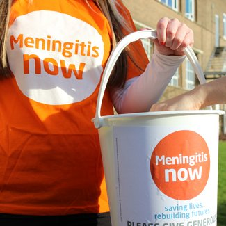 Meningitis Now fundraising - Bucket Collection