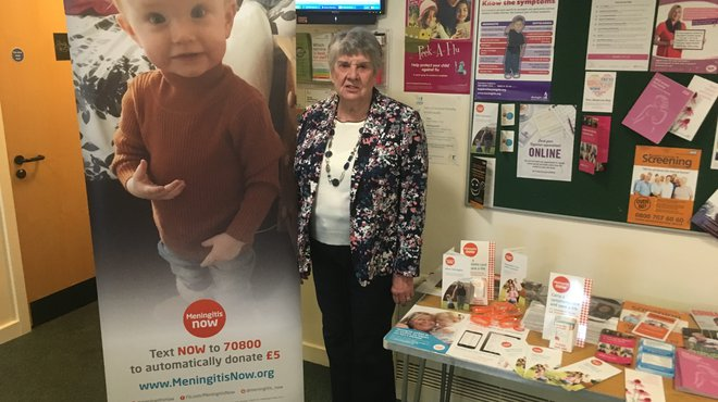 Meningitis Now volunteer raising awareness after death of Damion Krska