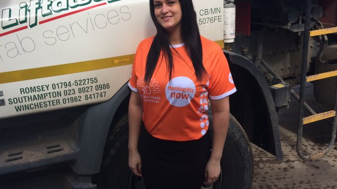 TB meningitis survivor Helen Liddell taking part in fundraising Relay Marathon