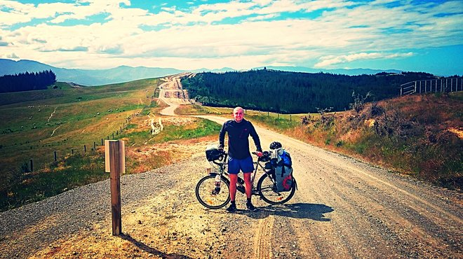 George cycling around the world to fundraise for Meningitis Now