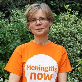 Meningitis Now staff member Louise Gifford