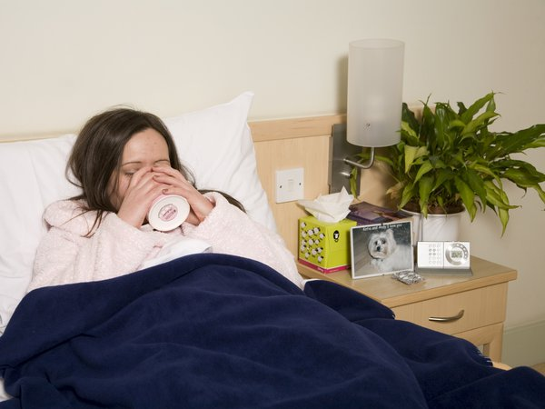 Viral Meningitis Awareness Week 2015 - ill in bed